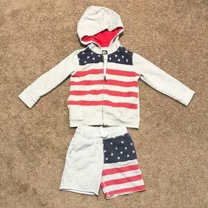 Baby B'gosh patriotic boys matching set